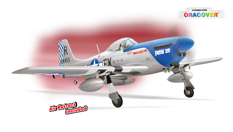 PH100 - P51 MUSTANG GP/EP 50-60 CC SCALE 1:5 ¼ ARF