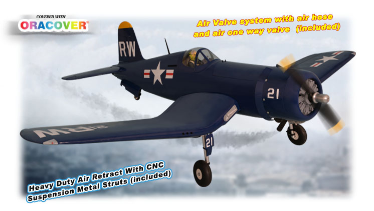 PH129 – F4U CORSAIR  SIZE 60CC GP/EP SCALE 1:5 ½ ARF