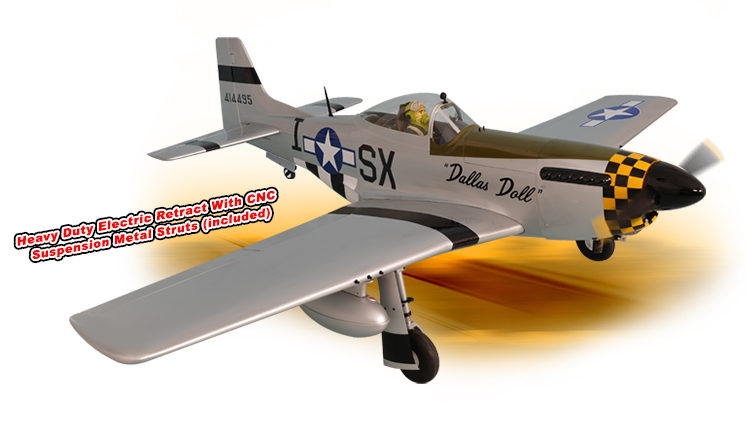 PH185 - MUSTANG P51 GP/EP 50-61 CC SCALE 1:5 ¼ ARF