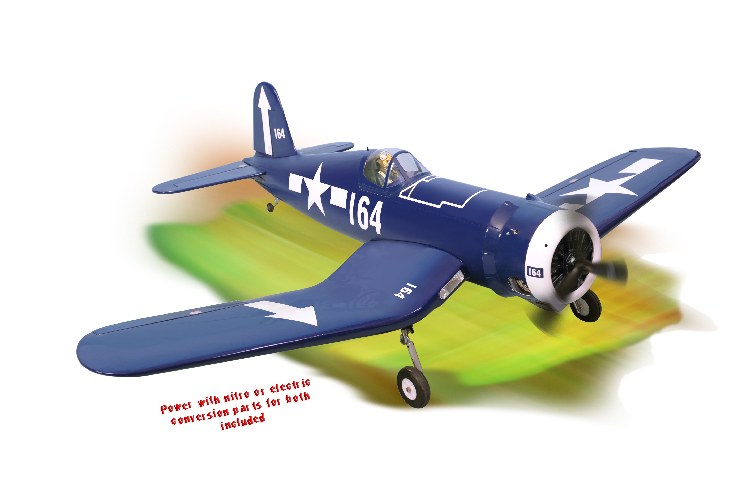 PH011 – F4U CORSAIR SCALE 1:8 ½ ARF .46-.55