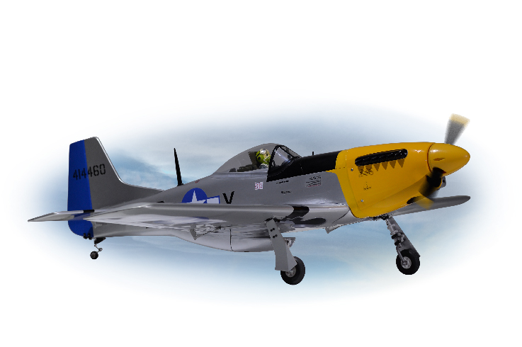 PH068 – P51 MUSTANG Size.46-.55 GP/EP SCALE 1:7 ½ ARF