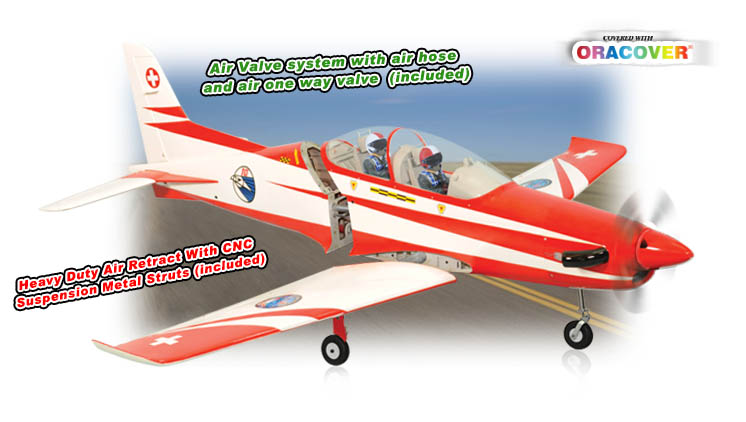 PH087 – PC21 PILATUS MK2 .120 OR 30CC SCALE 1:5  ARF