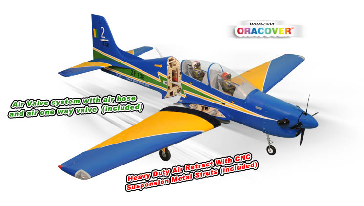 PH115 – TUCANO 60CC GP/EP SCALE 1:4 ¼ ARF