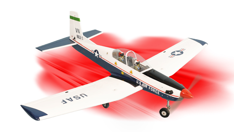 PH128-T-6 TEXAN II  GP/EP SCALE 1:7  ARF .46-.55