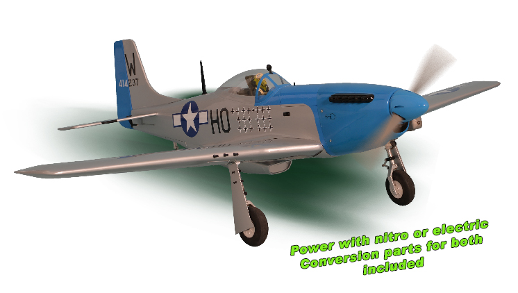 PH139 – P51 MUSTANG GP/EP Size 15-20CC SCALE 1:7 ¼  ARF