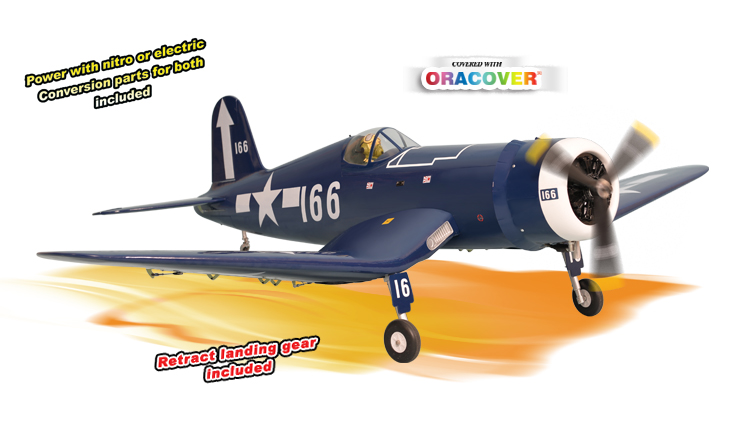 PH140– F4U CORSAIR GP/EP size.120/20cc  SCALE 1:7 ARF