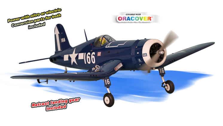 PH140 - F4U CORSAIR GP/EP size.120/ 20cc SCALE 1:7 ARF