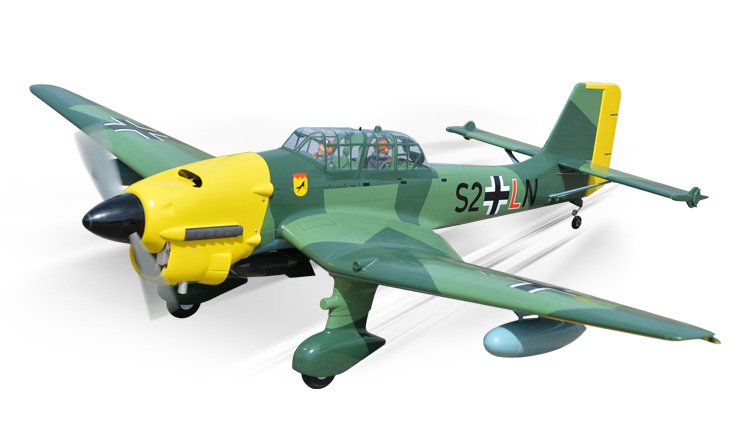 PH149 – STUKA Ju87 GP/EP SCALE 1:7  Size 1.20/20cc ARF