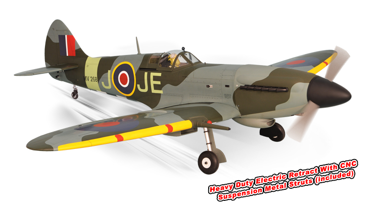 PH171– SPITFIRE GP/EP Size 50-61cc Scale 1:4 ¾ ARF