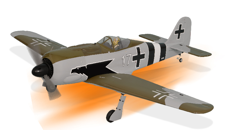 PH182– FOCKE WULF GP/EP Size .46-.55 Scale 1:7 ½  ARF