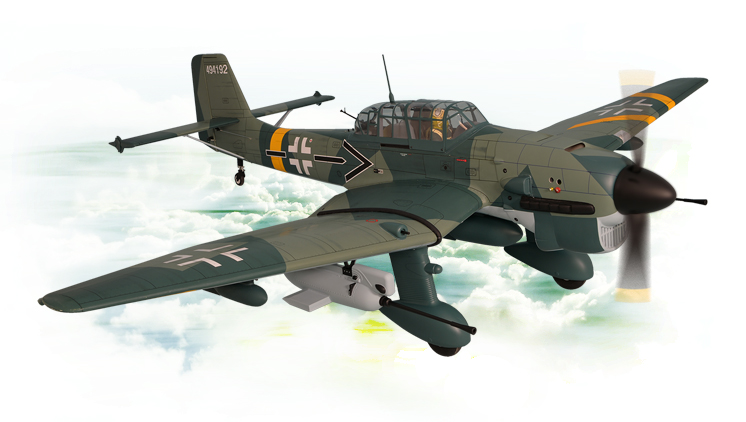 PH183– STUKA Ju87 GP/EP SCALE 1:5 ¾  Size 60cc ARF