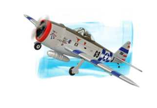 PH138– P47 THUNDERBOLT GP/EP SIZE .91/15CC SCALE 1:7 ARF