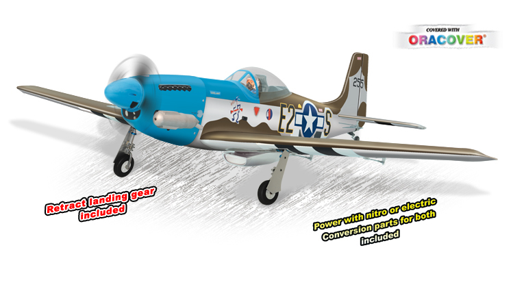 PH139 – P51 MUSTANG GP/EP Size .91/15CC SCALE 1:7 ¼  ARF